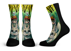 """Mononoke"" - Meents Illustrated Authentic Kids Socks"