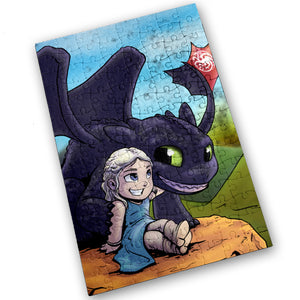 """Mother Of Dragons"" - Meents Illustrated Authentic Design - 120 Piece Jigsaw Puzzle"