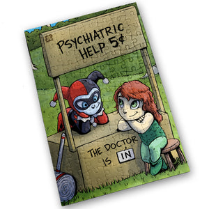 """Psychiatric Help"" - Meents Illustrated Authentic Design - 120 Piece Jigsaw Puzzle"