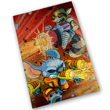 "Load image into Gallery viewer, ""Rocket & Stitch"" - Meents Illustrated Authentic Design - 120 Piece Jigsaw Puzzle"