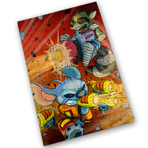 """Rocket & Stitch"" - Meents Illustrated Authentic Design - 120 Piece Jigsaw Puzzle"