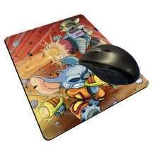 "Load image into Gallery viewer, ""Rocket & Stitch"" Meents Illustrated Authentic Mouse Pad"