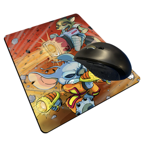 """Rocket & Stitch"" Meents Illustrated Authentic Mouse Pad"