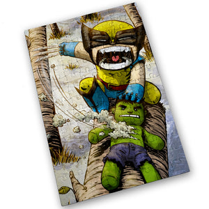 """Wolverine"" - Meents Illustrated Authentic Design - 120 Piece Jigsaw Puzzle"