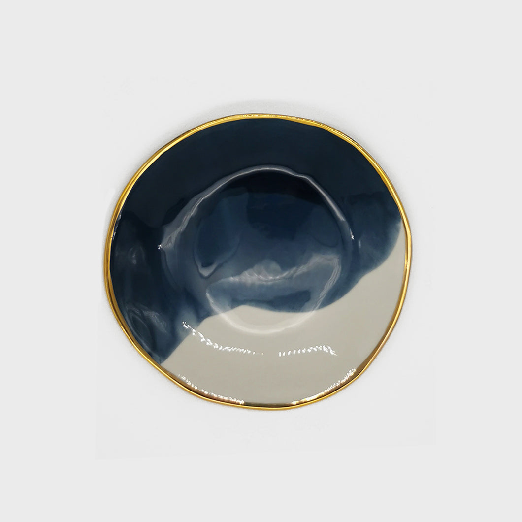Gouache Midnight Blue Salad Plate