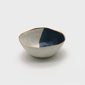 Gouache Midnight Blue Soup Bowl