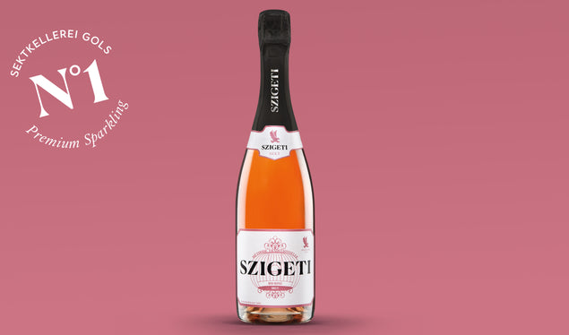 Der vergoldete BIO ROSÉ BRUT – don't forget to taste.