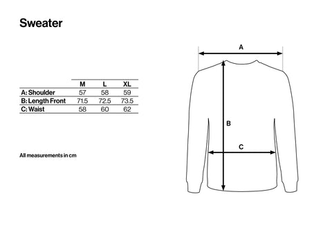 Size Guide Sweater