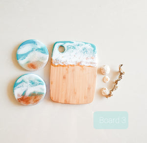 Ocean waves cheese board - small