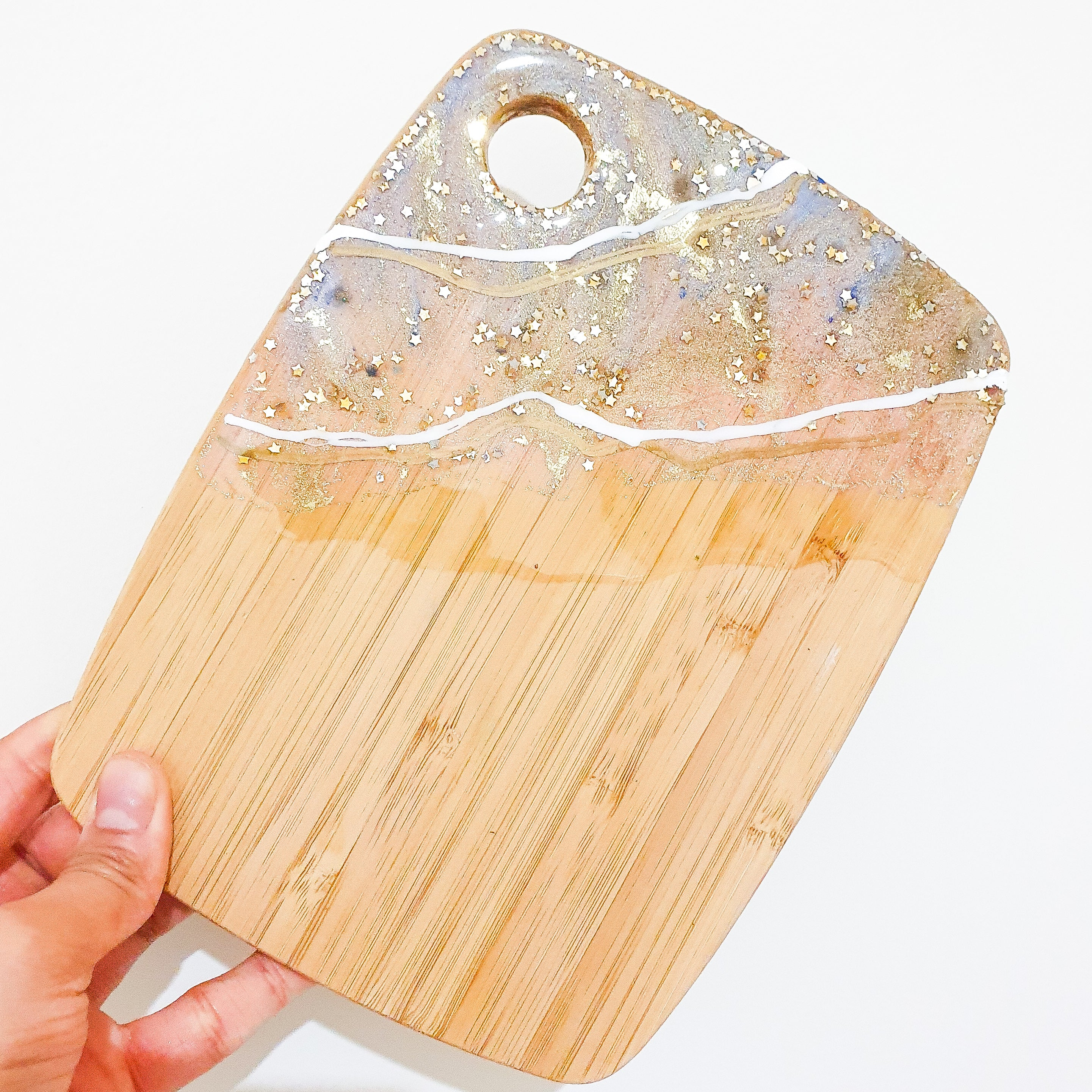 Lux styled cheese board- Small + 2 resin coasters