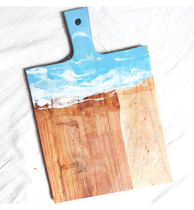 Ocean waves cheese board