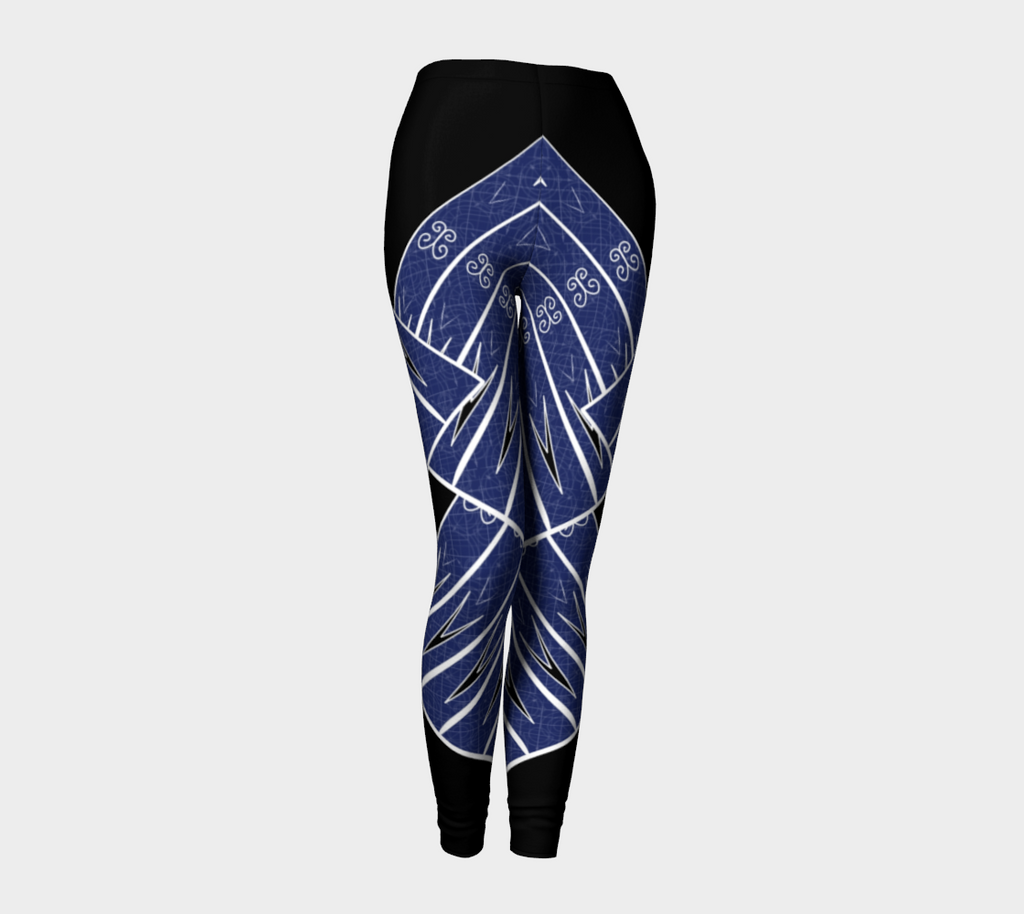 Compression Leggings XS-XL Blue Strength Design by TINGS