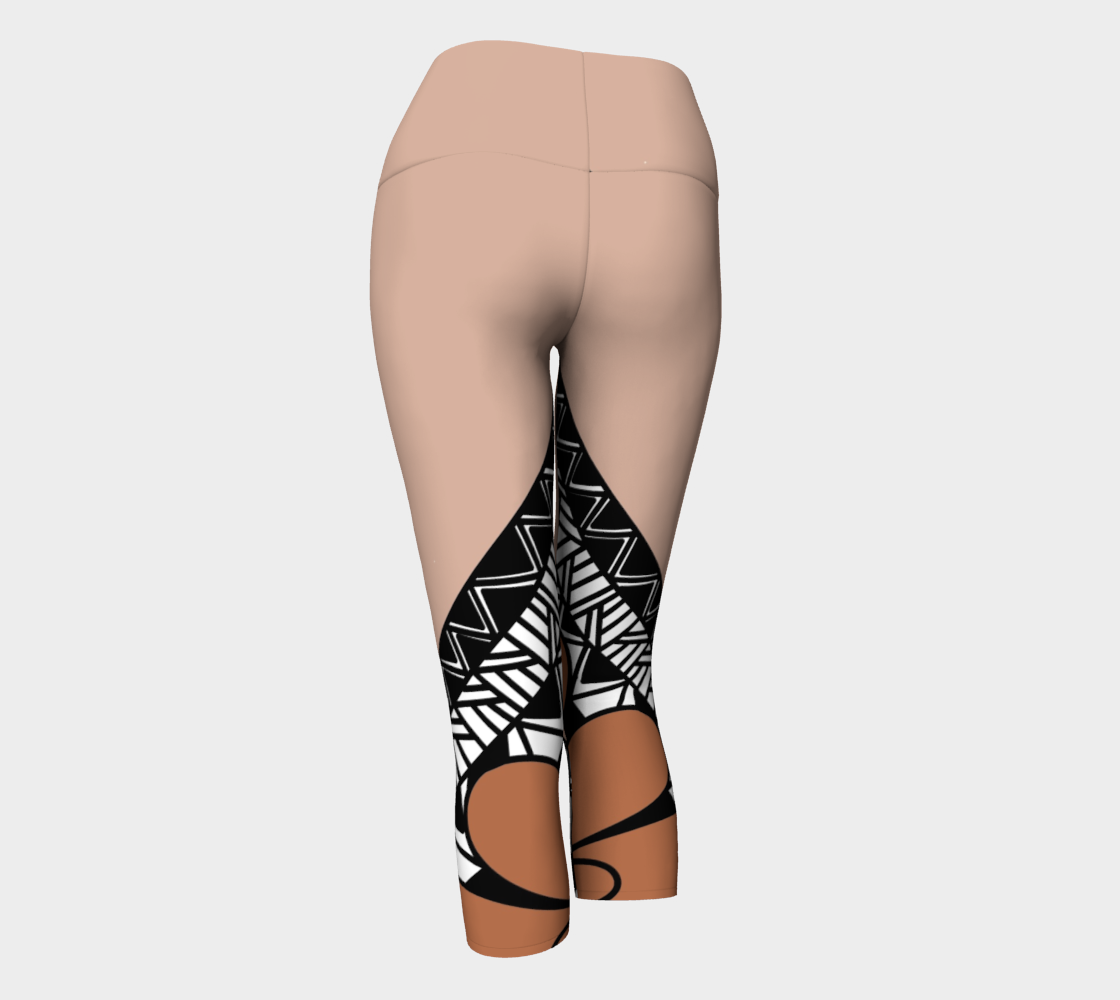 Compression Capris XS-XL Brown Snake In The Dirt Design by TINGS