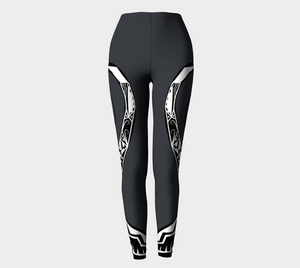 Compression Leggings XS-XL Dark Grey Oceans Apart Design by TINGS