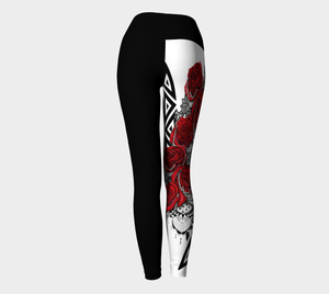 Yoga Leggings XS-XL Roses are Red Design by TINGS