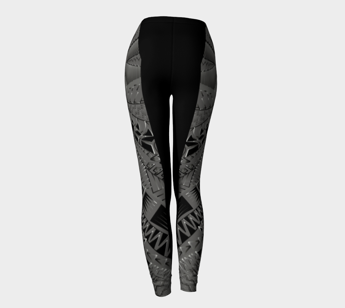 Compression Leggings XS-XL Grey Black Only Way Is Up Design by TINGS