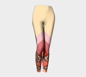 Compression Leggings XS-XL Snakes Legs Tribal Design by TINGS