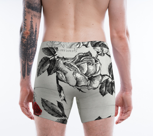 Men Boxer Shorts XS-XL Roses Are Red Designer Boxers by TINGS