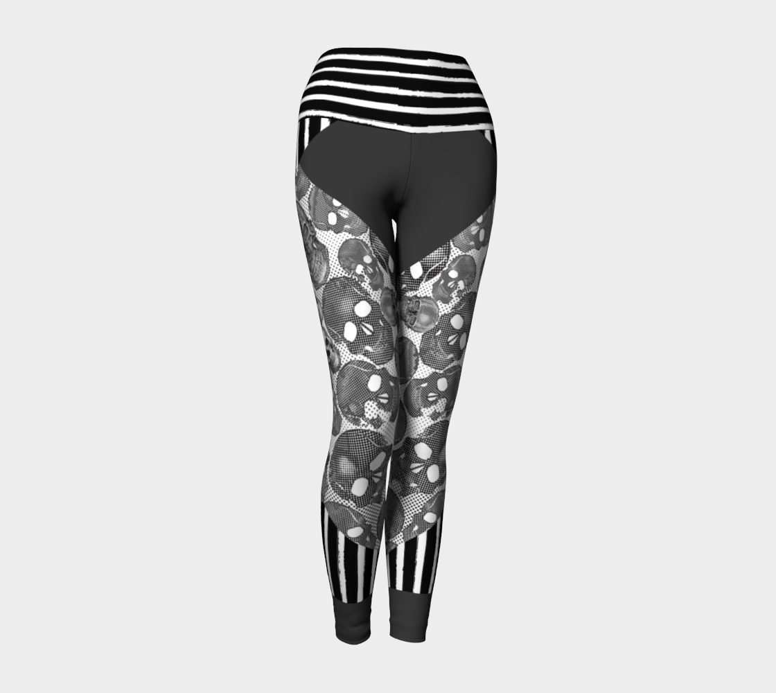 Yoga Leggings XS-XL Grey Xray Vision Design by TINGS