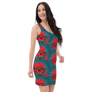 Bodycon Dress XS - XL Dazza Motor Head Design by Tings