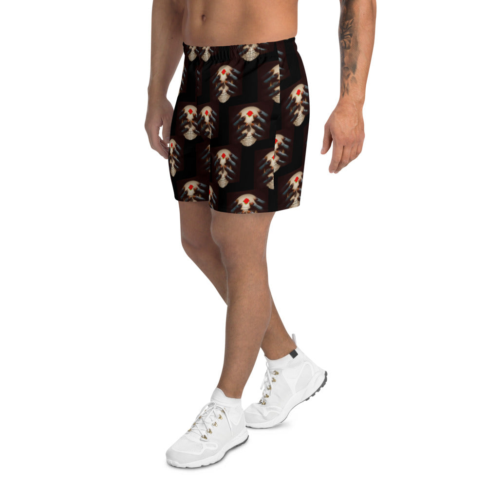 Men's Athletic Long Shorts XS-3XL Dazza Worried Mind by Tings