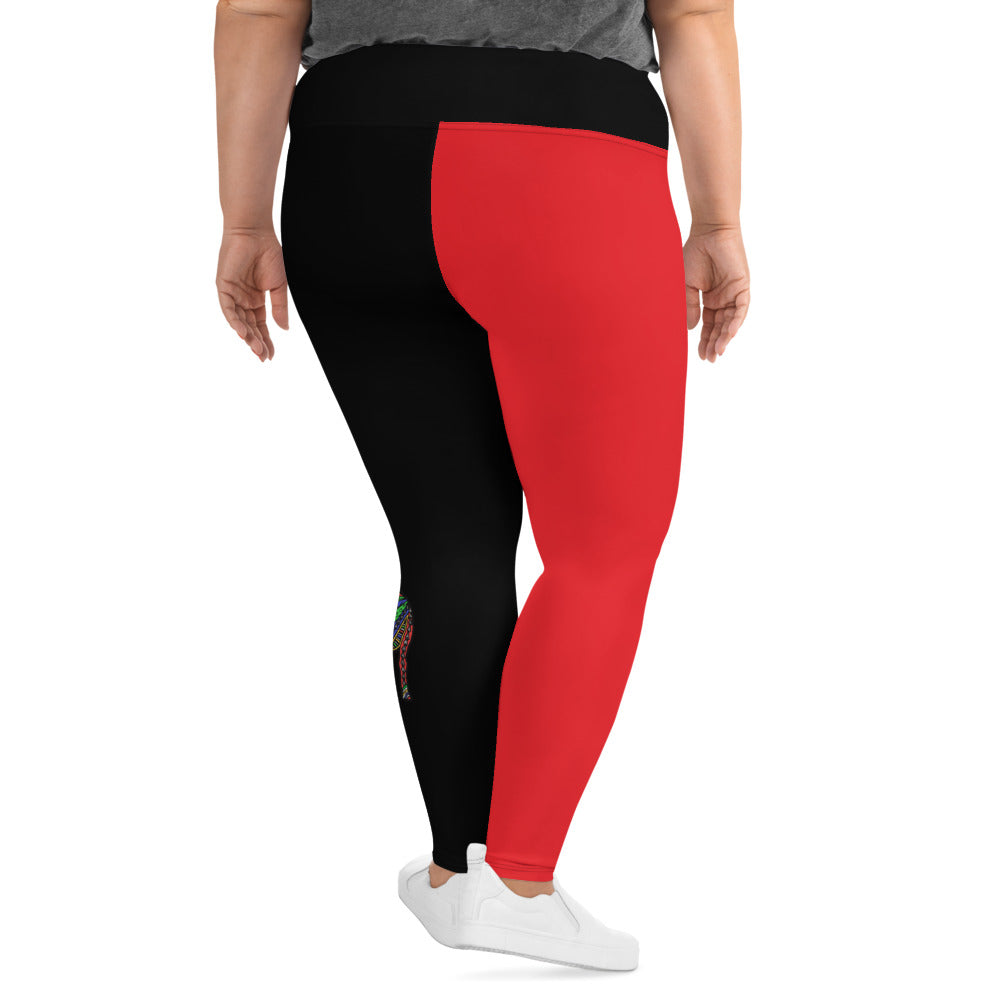 Plus Size Compression Yoga Leggings 2XL-6XL Heinie Ram Design by TINGS