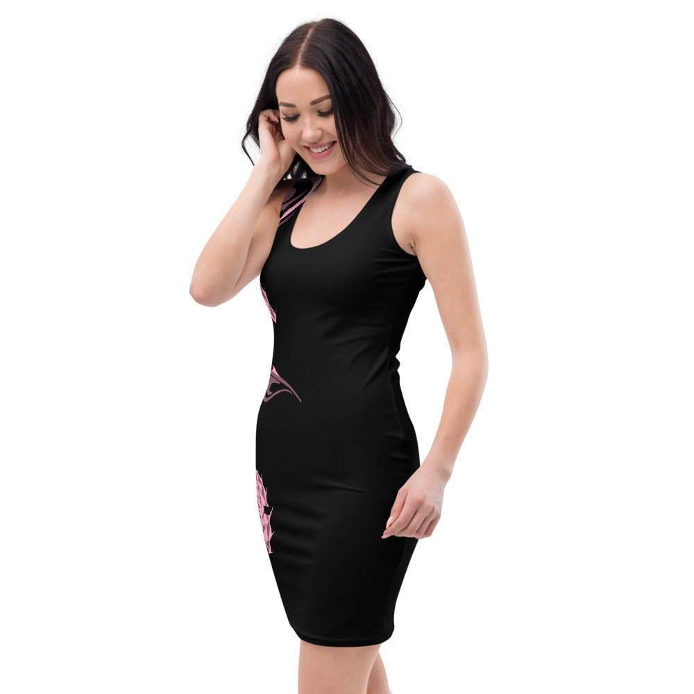 Black Dazza Spike Bodycon Dress XS-XL