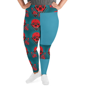 Plus Size Leggings 2XL - 6XL Dazza Motor Head Design by Tings