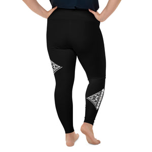 Plus Size Compression Yoga Leggings 2XL - 6XL Heinie's Griffin Being Design by TINGS