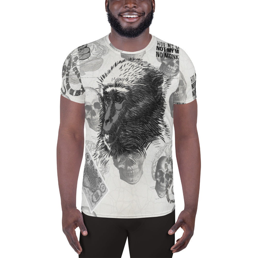 Monkey Business Men Athletic T-shirt XS-3XL by TINGS
