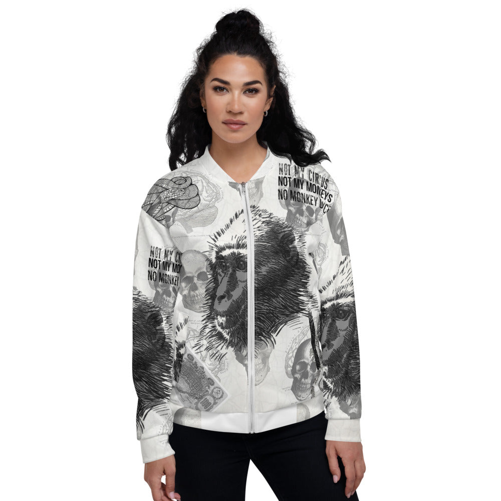 Monkey Business Unisex Bomber Jacket XS-3XL