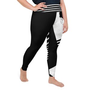 Yoga Leggings 2XL-6XL Plus Size Heinie's Silence Design by TINGS