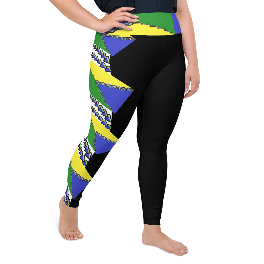 Plus Size Yoga Leggings 2XL-6XL Plus Size Heinie Tings Design by TINGS