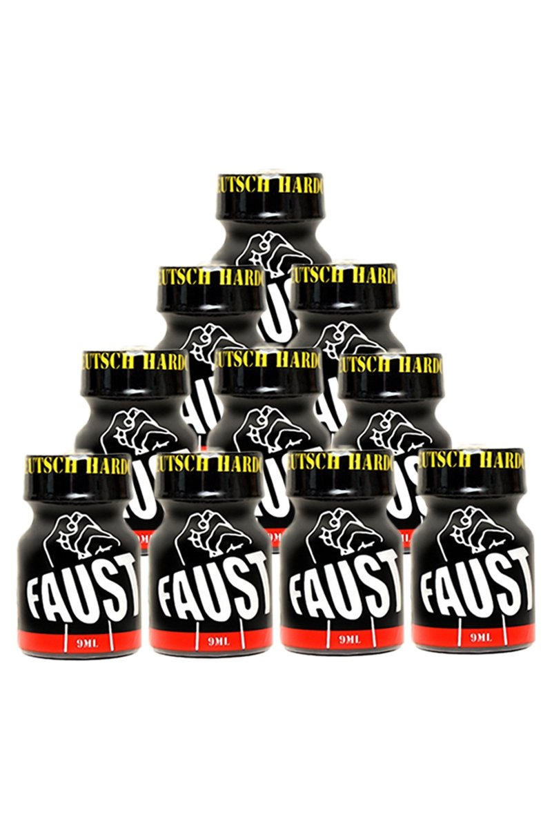 Pack 10 poppers Faust 9 ml.
