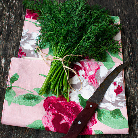 "Napkin for storage of greens ""Pink"""