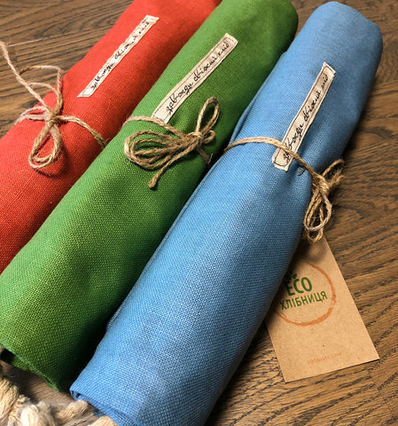 "Eco bread bag ""Linen colored"""