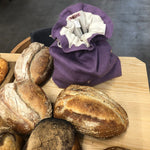 "Eco bread bag ""Linen lavender"""