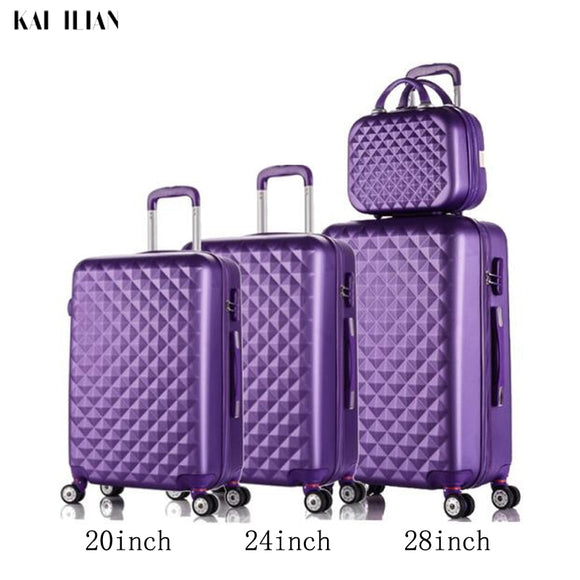 3pcs Luggage Set Spinner Wheels - Pack For Paradise
