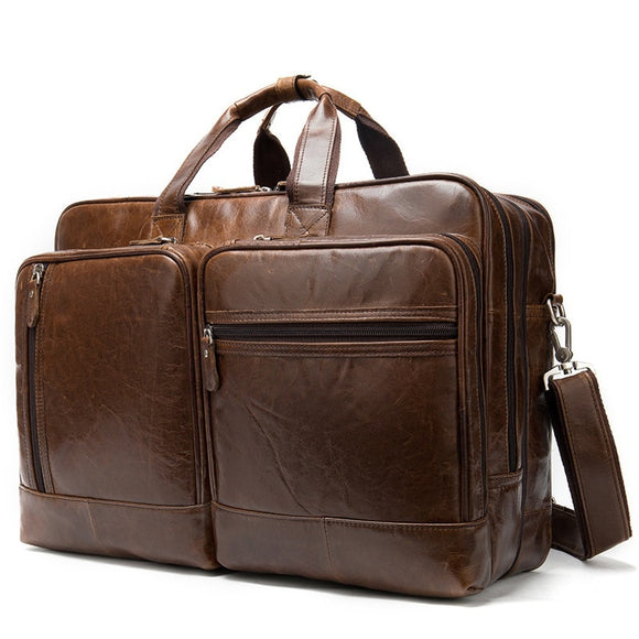 Men's Crazy Horse Leather Weekend Travel Bag - Pack For Paradise