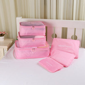 6PCS/Set High Quality Oxford Cloth Travel Mesh Bag - Pack For Paradise