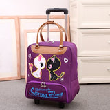 Wheeled bag Women travel backpack with wheels trolley - Pack For Paradise