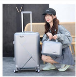 Rolling Luggage Set 24 Inch Spinner - Pack For Paradise