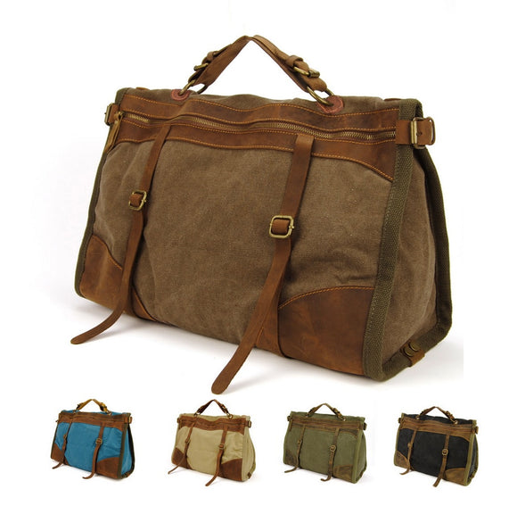 Vintage Retro Military Canvas Duffle Bags - Pack For Paradise