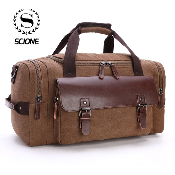 Scione Men Large Capacity Canvas Crossbody - Pack For Paradise