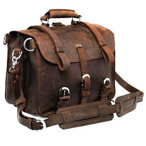 Vintage Vintage Crazyhorse Genuine Leather Travel Bag - Pack For Paradise