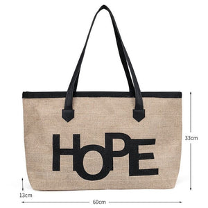 High Quality Women Linen Luxury Tote Large Capacity - Pack For Paradise