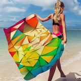 Microfine Microfiber Beach Towel - Pack For Paradise