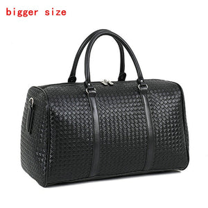 Leather Woven Pattern Travel Bag Large - Pack For Paradise