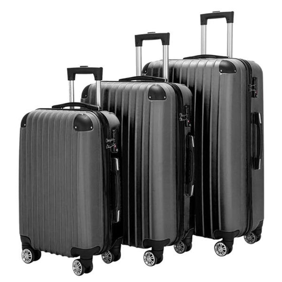 3 Piece Set Suitcase Luggage Spinner Hardshell Lightweight TSA Lock 20