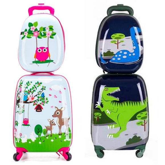Children's Cartoon Rolling Luggage Set - Pack For Paradise